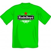 T-Shirt 'Rude Boys - Stay Rude'  all sizes  green