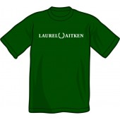 T-Shirt 'Laurel Aitken' flock bottlegreen, sizes S - XXL