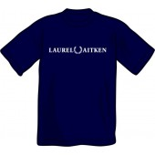 T-Shirt 'Laurel Aitken' flock navy, sizes S - XXL