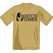 T-Shirt 'Desmond Dekker - Portrait' khaki, sizes small - 2XL