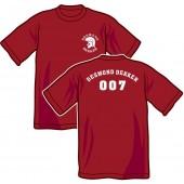 T-Shirt 'Desmond Dekker - 007' all sizes burgundy
