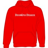 hooded jumper 'Desmond Dekker red' all sizes