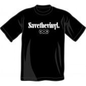 T-Shirt 'Save The Vinyl - V.O.R.' all sizes black