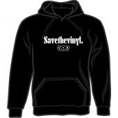 hooded jumper  'Save The Vinyl - V.O.R. black' all sizes