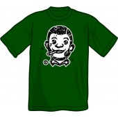 T-Shirt 'CHema Skandal! - Smoking Skinhead' bottle green - sizes S - XXL