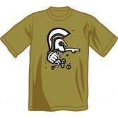 T-Shirt 'CHema Skandal! - Trojan Warrior' olive - sizes S, XXL
