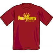 T-Shirt 'Valkyrians' burgundy, sizes S - XXL