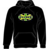 hooded jumper '8°6 Crew - Working Class Reggae' black - size S