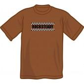 T-Shirt 'Rocksteady' chestnut brown - sizes S - XXL