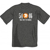 T-Shirt '54 - 46 Was My Number' dark heather grey - sizes S - XXL