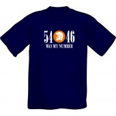 T-Shirt '54 - 46 Was My Number' navy - sizes S, L