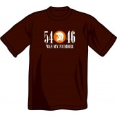 T-Shirt '54 - 46 Was My Number' chocolate brown - sizes S, L - XXL