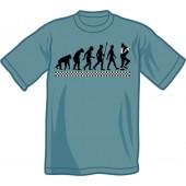T-Shirt 'Evolution Of Ska' steelblue - sizes S - XXL