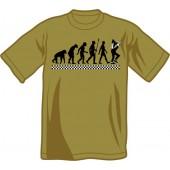 T-Shirt 'Evolution Of Ska' olive green - sizes S - XXL