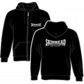 Zipper Jacket 'Skinhead Antifascist' black, sizes S - 2XL
