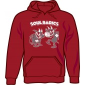 hooded jumper 'Soul Radics - Two Devils' burgundy - sizes S - XXL