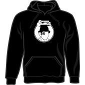 hooded jumper 'Clockwork Orange' black, all sizes
