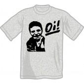 T-Shirt 'Oi!' heather grey, all sizes