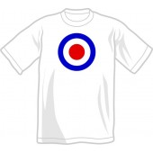 T-Shirt 'Mod Style - Target' white all sizes
