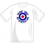 T-Shirt 'Talkin' 'bout My Generation' white, all sizes