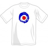 T-Shirt 'Brushed Target' white, all sizes