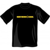 T-Shirt 'Northern Soul - yellow lettering' black - sizes S - XL