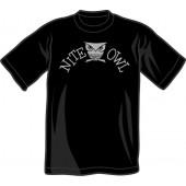 T-Shirt 'Nite Owl' black, all sizes