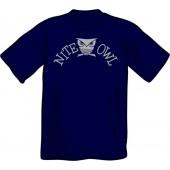 T-Shirt 'Nite Owl' Blue sizes S - XL