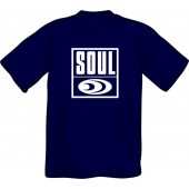 T-Shirt 'Soul Records' blue, all sizes