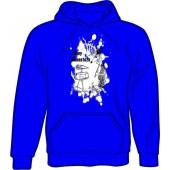 hooded jumper 'Sunny Domestozs - rat' blue, all sizes