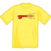T-Shirt 'Rocksteady Gun'pale yellow, sizes S - XXL
