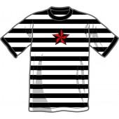 T-Shirt 'Nautic Star' - ringer white/black, all sizes