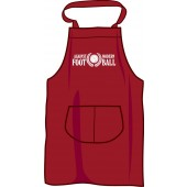 BBQ apron 'Against Modern Football', burgundy