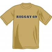 free for orders over 150 €: T-shirt 'Reggay 69' khaki, all sizes