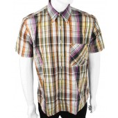 Warrior British Vintage Button Down Short Sleeved Shirt 'McCartney', size XL