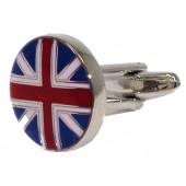 Warrior Circular Union Jack Cufflinks