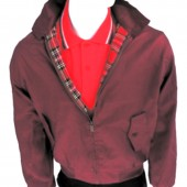 Original UK Maroon Harrington Jacket by Warrior, sizes S, M, XL, XXL, 3XL, 4XL