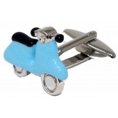 Warrior Northern Scooter Enamel Light Blue Cufflinks