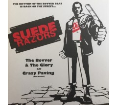 """Suede Razors 'The Bovver & The Gory b/w 'Crazy Paving'  7"""" picture disc"""