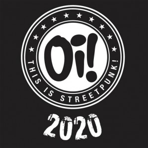 """V.A. 'Oi! This is Streetpunk 2020'  2x10"""" LP – clear with white&black splatter vinyl"""