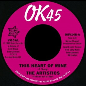 """Artistics 'This Heart Of Mine' + 'So Much Love In My Heart'  7"""""""