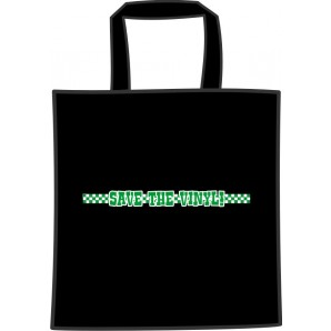 free for orders over 150 €: cotton bag 'Save The Vinyl' black
