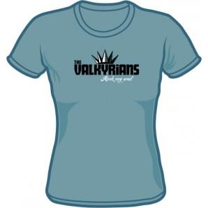 Girlie Shirt 'Valkyrians' steel blue, sizes small - XXL