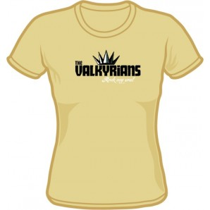 Girlie Shirt 'Valkyrians' sand, sizes small - XXL