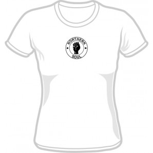 free for orders over 100 €: Girlie Shirt 'Northern Soul' white, all sizes