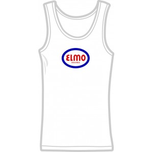 free for orders over 100 €: Girlie tanktop 'Elmo Records' white, all sizes