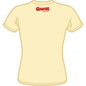 free for orders over  80 €: Girlie Shirt 'Grover Records' all sizes - white