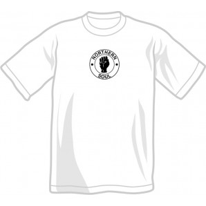 free for orders over 100 €: T-Shirt 'Northern Soul' all sizes white