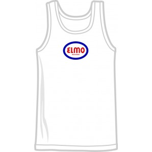 free for orders over 100 €: tanktop 'Elmo Records' white, all sizes