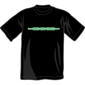 free for orders over 150€: T-Shirt 'Save The Vinyl' all sizes black